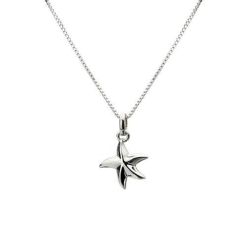 Curvy Starfish Pendant Sterling Silver 925 Hallmarked All Chain Lengths